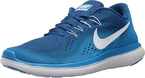 Nike Men's Flex 2017 Rn Gum Blue/White - Photo Ankle-High Running Shoe 14M