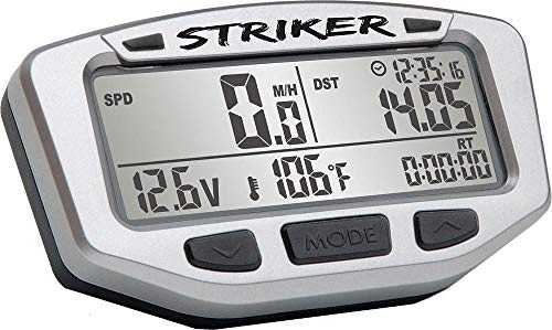 Trail Tech 712-116 Black Striker Speedometer Digital Gauge Kit with Volt Meter ()