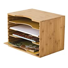 Lipper International Wood File Organizer with Adjustable Dividers
