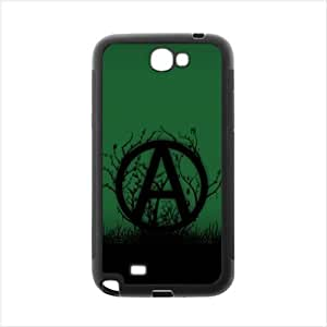 Anarchy Case - Green background Design Samsung Galaxy Note2 N7100 Plastic and PC Case, Cell Phone Cover