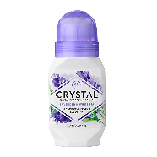 Crystal Mineral Deodorant Roll-On, Lavender White Tea 2.25 oz Pack of 10