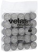 Vela Redondo Brigite com 50 Unidades, Etna, Branco