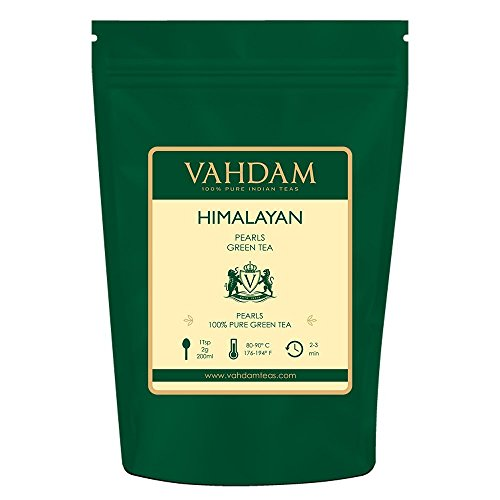 VAHDAM, Himalayan Pearls Green Tea Leaves | 3.53 Oz (50 Cups) | Pure Green Tea Loose Leaf | RICH ANTI-OXIDANTS | Natural Detox Tea, Slimming Tea, Weight Loss Tea | - White Pearl Green
