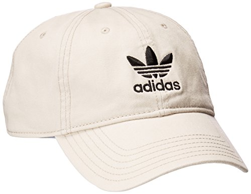 adidas Men's Originals Relaxed Strapback Cap, Khaki/Black, One - Baseball Logo Beige