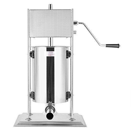 Manual 15l - Ceny Sausage Filler Machine Stainless Steel Vertical Sausage Maker Manual Commercial Grade Restaurant Meat Filler (15L/33LB)
