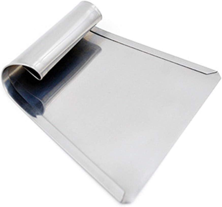 Taglia-impasto in acciaio inox paletta raschietto utensile da cucina trapezoidale affettatrice pizza spatola