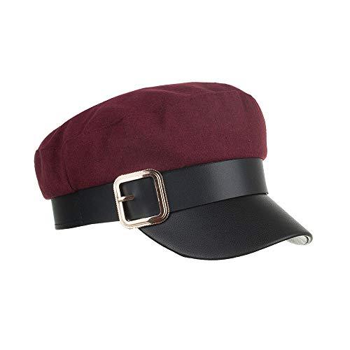 Warm Cap Hat Grey Fashion Mzhpld Wool Beret New Winter Burgundy Bonnet Caps Female Women RwzPq
