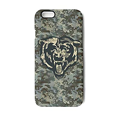 Camouflage Camo Phone Case for iPhone 7/Iphone8 Best Non-Slip Matte 3D Printed PC TPU Shockproof Anti-Fingerprint Back Cover for Football Fans