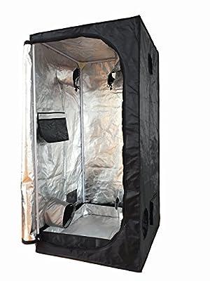 """Smartbuy247 NEW 32""""X32""""X63"""" Grow Tent Bud Dark Green Room Hydroponics Box Mylar Silver!!"""