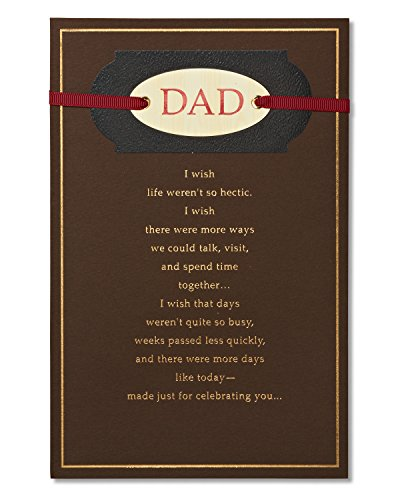 American Greetings Birthday Card for Dad (Wonderful Dad) (Happy Birthday Cards For Father From Daughter)