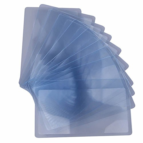 FUCAS Lot of 12 Credit Card Sized Magnifying Lenses. Wholesale Lot - 300% Fresnel Magnifier