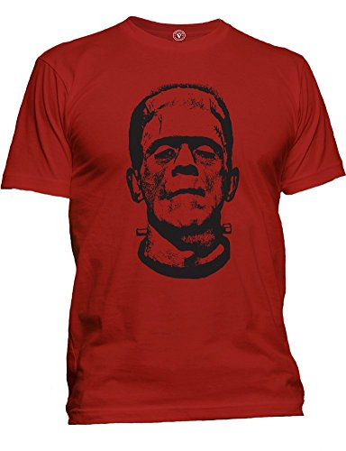 Men's Frankenstein Horror Movie Scary Monster Halloween Costume Party T-Shirt (XL, Red) ()