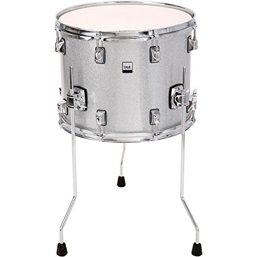 (Taye GK1411F-SS 14 x 11 in. Gokit Add-On Floor Tom Drum44; Silver Sparkle)