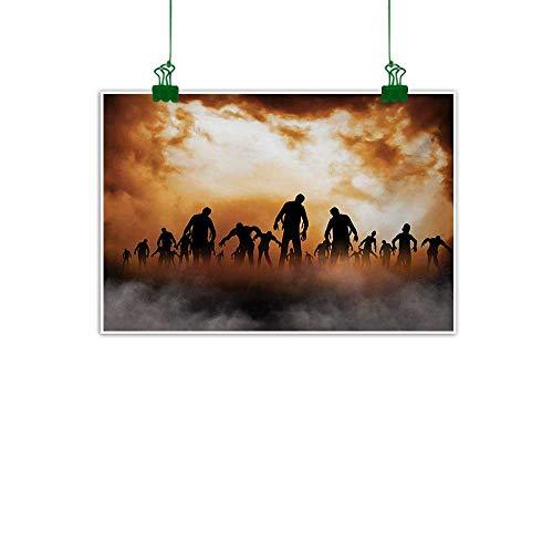 Halloween,Canvas Painting Zombies Dead Men Walking Body in