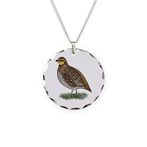 CafePress - Bobwhite Quail Hen - Charm Necklace with Round Pendant