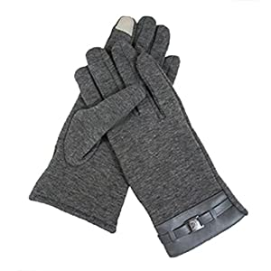 Veenajo Men's Winter Touch Screen Winter Gloves Warmer Cycling Texting Gloves (Dark Grey)