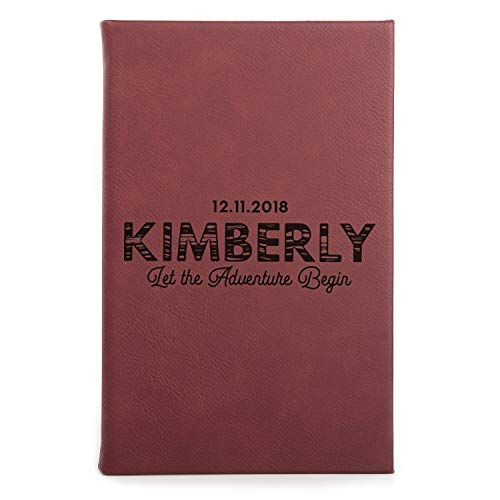 - United Craft Supplies Personalized Leatherette Cover Notebook for Gift, Let The Adventure Begin, Single