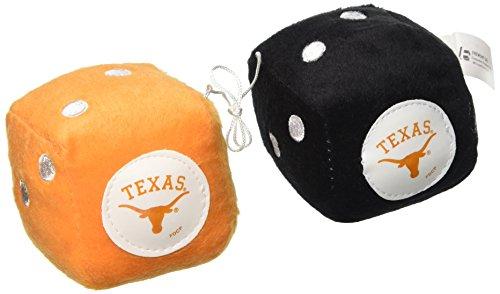 - NCAA Texas Longhorns Football Team Fuzzy Dice, Orange
