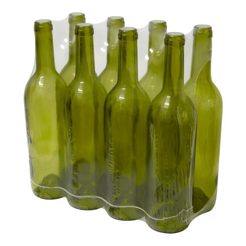 8 x 0.75ml BOTTLE GLASS BORDEAUX FOR HOMEBREW WINE MAKING - OLIVE GLASS Biowin