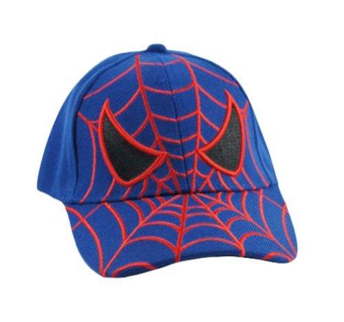 Good quality kid's spiderman baseball cap royal color