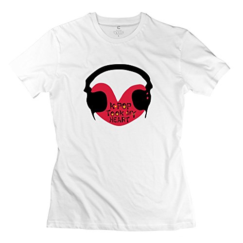 White 100% Cotton Kpop Earphones T Shirts For Baby