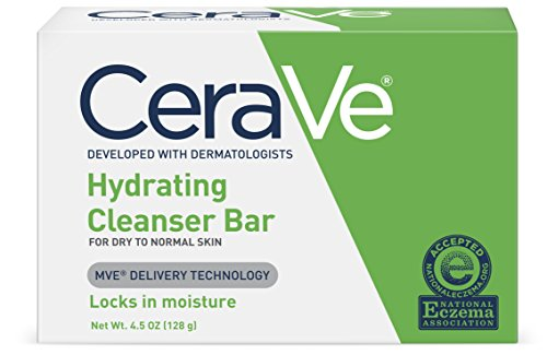 CeraVe Hydrating Cleanser Bar   4.5 Ounce   Soap-Free Body and Face Cleanser Bar   Fragrance Free and Non-Irritating