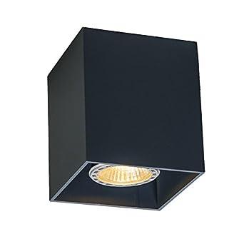 Qazqa Design Modern Deckenstrahler Qubo 1 Schwarz Innenbeleuchtung