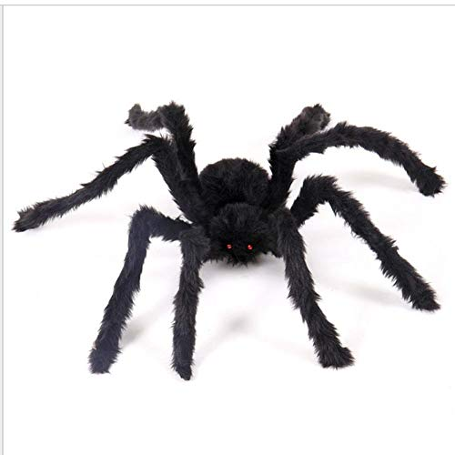 2 Pcs Halloween Simulation Spider 30/50/75cm Large Size Plush Toy Spiders Realistic Bugs Scary Creepy Prank Gag Gifts for Halloween Decorations -