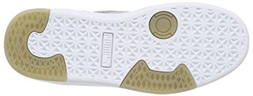 Puma Suede S Modern Tech - zapatilla deportiva de cuero Unisex adulto gris - Grau (drizzle-white 04)