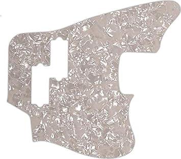 WD Custom Pickguard For Gibson Marauder #28A Aged Pearl//White//Black//White