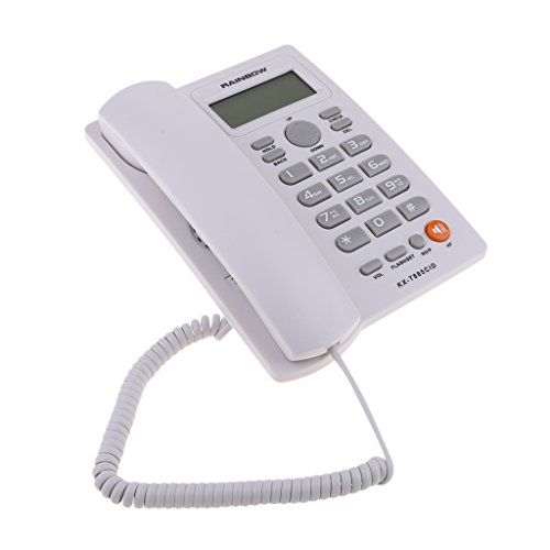 - Homyl Corded Phone with Speakerphone, Extra-Large Tilt Display/Buttons, Caller ID/Call Waiting and Audio Assist White