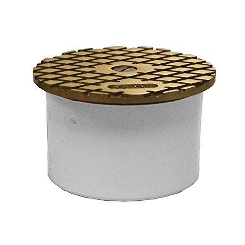 Jones Stephens, JS 3'' PVC Inside Pipe Fit Cleanout with 3-1/2'' Nickel Bronze Round Cover - C60172 by Jones Stephens