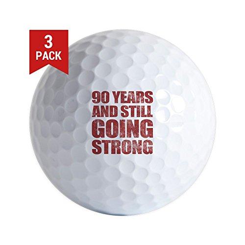 Old Vintage Golf Balls - CafePress - 90Th Birthday Still Going Strong - Golf Balls (3-Pack), Unique Printed Golf Balls