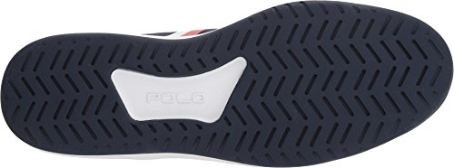 Polo Ralph Lauren Hombres Court200 Sneaker French Navy / Blanco / Ralph Lauren 2000 Red