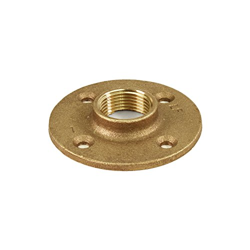 - Everflow BRFF0100-NL 1 Inch Female NPT Threaded Brass Floor Flange with Holes 125 Lead Free, Durable, Brass Construction, Higher Corrosion Resistance, Economical & Easy to Install