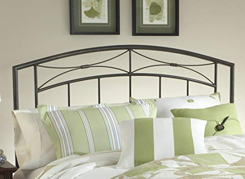 Hillsdale Furniture Morris Bed Set with Rails, King, Magnesium Pewter