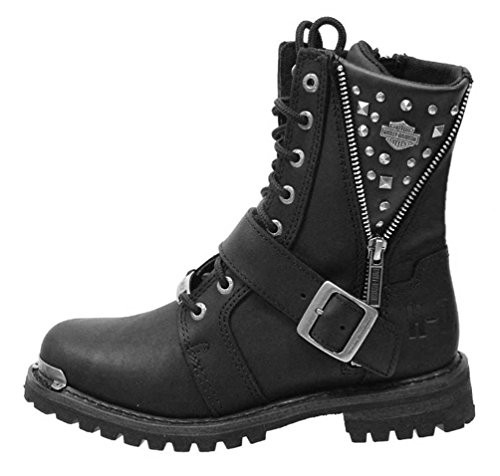 Harley-Davidson Women's Mindy 6.5-Inch Black Boots. D87051 (Black, 9) (Harley Riding Boots Womens)