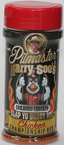 Pitmaster Harry Soo's Slap Yo Daddy BBQ Rubs - ALL NEW (Chicken Championship Rub - Jailbird Chicken, 6 oz)