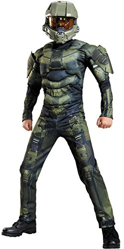 Disguise Master Chief Classic Muscle Costume, Medium (7-8) (Halo Costume Child)