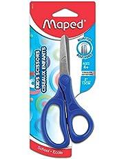 Maped 480110 Essentials Kids Scissors, 5 Inch Blades, Blunt, Ambidextrous Handle