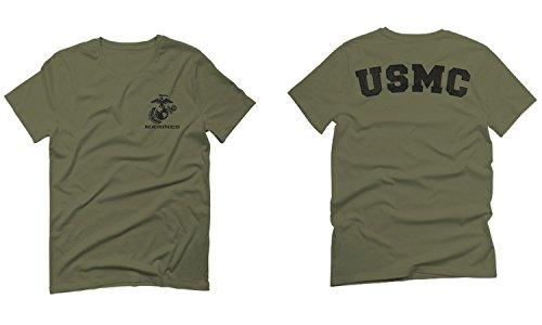 Black Seal United States of America USA American Marines Corps USMC for Men T Shirt (Olive Green, Medium)