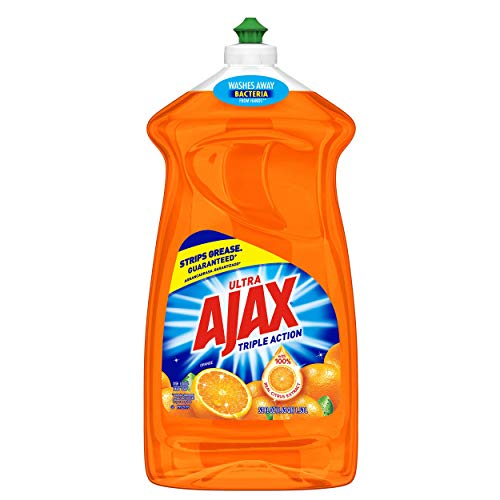 Ajax Triple Action Dish Liquid, Orange, 52 Fluid Ounce