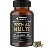 Primal Multi - Organic Beef Organ Capsules - 100% Grass Fed - Liver, Kidney & Heart - 30 day supply