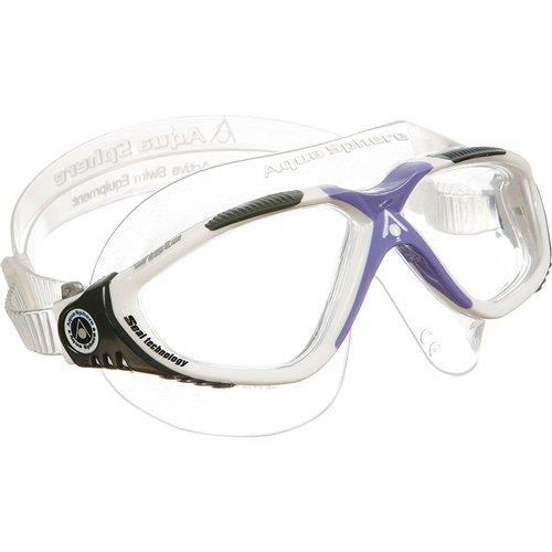 - Aqua Sphere Vista Lady Swim Mask, White/Lavender