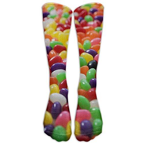FUNINDIY Lots Of Jellybeans Athletic Tube Stockings Women's Men's Classics Knee High Socks Sport Long Sock One Size
