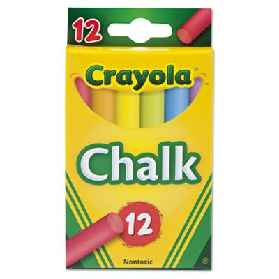Chalk, Two Each of Six Assorted Colors 12 Sticks/Box (279 Boxes) by BINEY SMITH (Image #1)