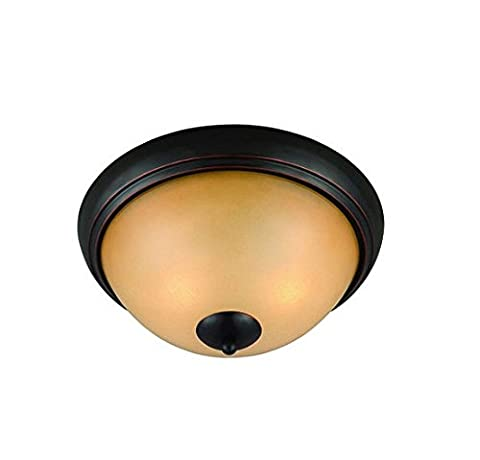 Hardware House Essex Series 2 Light Oil Rubbed Bronze 12 Inch by 5-1/4 Inch Chandelier Ceiling Lighting Fixture : - Sixteen Lamp Chandelier