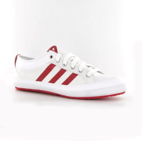 compañero compañera de clases viceversa  adidas Nizza Lo Remo White Red Leather Mens Trainers Size 9 UK:  Amazon.co.uk: Shoes & Bags