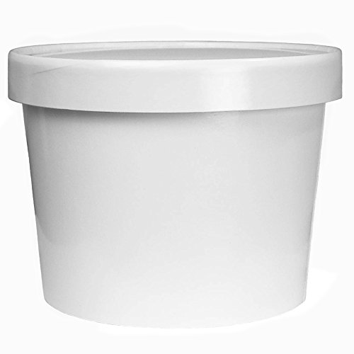Frozen Dessert Supplies Premium 64 oz Half Gallon Paper Ice Cream Containers With Non-Vented Lids To Prevent Freezer Burn - Heavy Duty Freezer Containers for Long Term Storage! 100 Count by Frozen Dessert Supplies