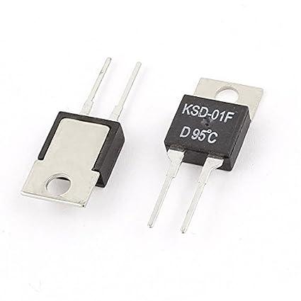 2 pezzi KSD-01F 95C NC Normale chiuso Temperatura termostato - - Amazon.com